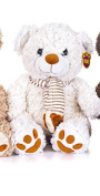 Brand New Winter Christmas Bear Cream with Scarf 41cm Soft Toy