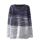 Arrowhunt Women's Casual Gradient Knitted Pullover Long Sleeve Jumper Sweater