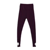 Move & Moving(TM) Maternity Pregnancy Adjust Waistband Pants Leggings Wine Red S