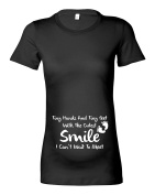 Women's Maternity 'A Smile I Can't Wait to Meet...' Poem T-Shirt