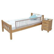 Safetots Extra Wide Wooden Bed Rail Grey