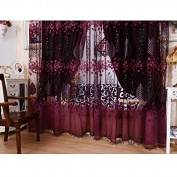 Youpin 2pcs Luxurious Voile Curtains 1mx2.5m Upscale Jacquard Yarn Curtains Tulle for Door Window Decor