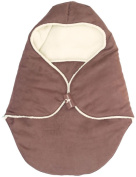 Wallaboo Baby Blanket Coco nore - For Car seat and Travel - Warm and safe - 90 X70 cm - For Babies from Newborm - chocolate
