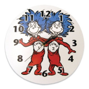 Trend Lab Dr. Seuss Thing 1 and Thing 2 Wall Clock, Red/Blue Infant, Baby, Child