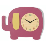 Tree by Kerri Lee Elephant Clock, Raspberry Infant, Baby, Child