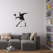 Banksy Man Throwing Flowers Vinyl Wall Art Decal
