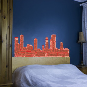 Biggest Cities Skyline Word Cloud Vinyl Wall Art Sticker