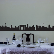 City Skyline Vinyl Wall Art Decal Border for Interior Design