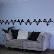 Repeating Triangles Vinyl Wall Art Decal Border for Interior Design