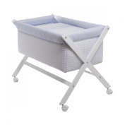 Cambrass Small Bed X-Shaped Wood Une and Canopy