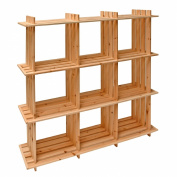 DEMA Wooden Shelves, 9 Drawers, 113x27x110