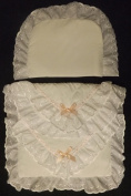 COACH BUILT PRAM BEDDING SET for Silver Cross Dolls Oberon Chatsworth Pink Blossom