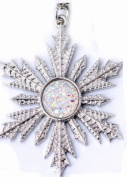 Frozen Once Upon a Time Show Snowflake Ana Elsa Necklace Pendant Silver Predent