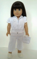 WHITE CAPRI OUTFIT FOR AMERICAN GIRL DOLLS