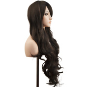 Ambielly 80cm Women's Wig Long Curly Wavy Hair Party Cosplay Wig