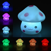 Youpin 7 Colour Changing Mushroom Light,LED Novelty Lamp Night Romantic Plastic Cute Lamp For Room Christmas Party Decor