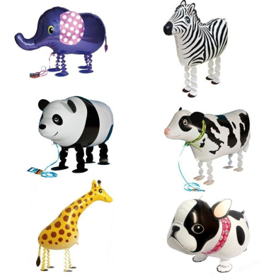 6pcs Walking Animal Balloons Birthday Party Decor Children Kids Gift