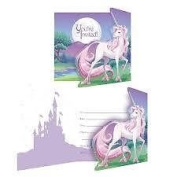 UNICORN FANTASY PARTY INVITATIONS - PACK OF 8