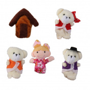 Set of 5pcs Plush Finger Puppets Fairy Tale Story Kids Toy