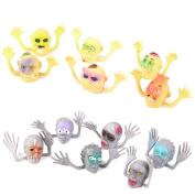 Plastic Ghost Head Finger Puppets Halloween Party Toys Set of 12pcs