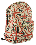 GFM AZTEC Pattern PU Leather Large Waterproof Backpack for School College Travel Holidays