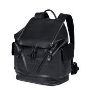 ONEWORLD New Multifunction Leather Men Bag Korean Version Business Casual Shoulder Bag Backpack Black