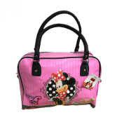 Pink Minnie Mouse Official 'Faux' Leather look Handbag Bowling Bag