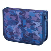 Happy School Pencil Case with Blue Helicopter 51tlg Filled [Special Edition]