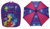 Bundle deal - Inside Out - Backpack & Umbrella - Every Day is Full of Emotion