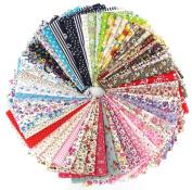 60 Pcs Fabric Cotton 100% Printed Boundle Patchwork Squares of 20*25cm