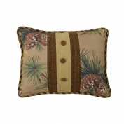 HiEnd Accents Crestwood Pinecone Buttons Pillow