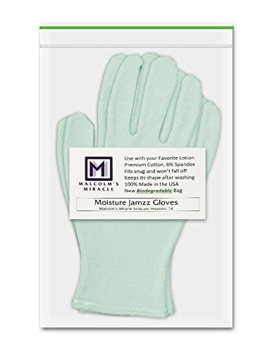 Malcolm's Miracle NEW GREEN Moisture Jamzz Moisturising Gloves - Made in  the USA with Biodegradable Packaging!