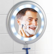 Fogless LED Shower Mirror - 12 Super Bright Lights & 3 Strong Suction Cups