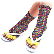 Pedisavers Toe Separator Pedicure Socks, Disco Diva
