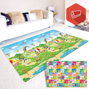 Baby & Kids Safety Play Mat, Eutuxia® [Large