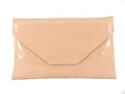 Loni Womens Stylish Large Envelope Patent Clutch Bag/Shoulder Bag Wedding Party Prom Bag
