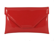 Loni Womens Stylish Large Envelope Patent Clutch Bag/Shoulder Bag Wedding Party Prom Bag