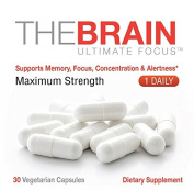 Alpha Health - ULTRA FOCUS Brain Supplement - Supports Focus, Memory, Mental Clarity, Concentration, & Alertness - One Daily Brain and Memory Pill (1 month Supply)