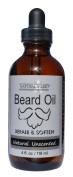 Natural Brio Premium Unscented Beard Oil - Condition, Soften and Repair, 120ml