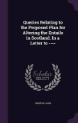 Queries Relating to the Proposed Plan for Altering the Entails in Scotland. in a Letter to ----