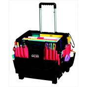 School Smart Small Caddy Organiser, Handle, 13-1/2 X 41cm  X 36cm , Black, Cart Not Included