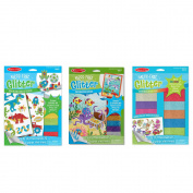 Melissa & Doug Mess Free Glitter Bundle - Underwater Scenes, Adventure Stickers and Booster Pack