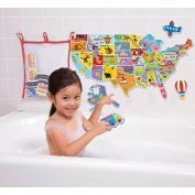 USA Map Puzzle In The Tub