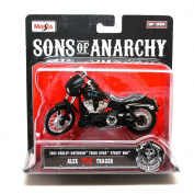 "Maisto 1:18 Scale Sons of Anarchy Diecast Motorcycle - Alex ""Tig"" Trager 2006 FXDBI Dyna Street Bob"