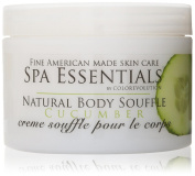 Spa Essentials Natural Body Souffle, Cucumber, 240ml
