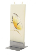 Flatyz Twin Wick Unscented Thin Flat Candle - Butterfly