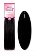 Pink Diamond Human Hair Extensions - Remi Spanish Wave 30cm - #1 Black - Size