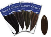 Urban Beauty Human Hair Extensions - Closure Long - #4 Dark Brown - Size