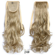 #24 Wavy Ribbon Hair Ponytail