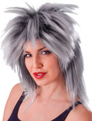 Ladies Fancy Dress 1980s Party Tina Two Tone Glam Rock Fake & Artificial Wig
